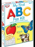 My First ABC [With Sticker(s) and Poster and Crayons and Coloring, Puzzles, Crosswords, Follow-The-Dot]
