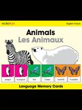 Animals/Les Animaux Wordplay Language Memory Cards