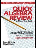 Quick Algebra Review STG 2e
