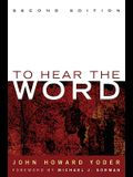 To Hear the Word