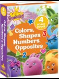 Sunny Bunnies: Colors, Shapes, Numbers & Opposites: 4 Board Books (Us Edition)