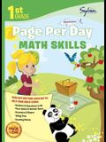 First Grade Page Per Day: Math Skills (Sylvan Page Per Day Series, Math)