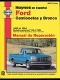 Ford Camionetas Y Bronco 1980 Al 1994: Modelos Grandes F100 Al F350