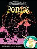 Scratch & Stencil: Ponies [With Stencils and Black Scratch Paper]