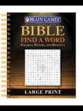 Brain Games - Bible Find a Word - Large Print
