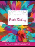 Adult Coloring Journal: Positive Thinking (Turtle Illustrations, Color Burst)