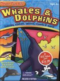 Whales & Dolphins [With Great Whales Stained Glass Coloring Book and 60 Beautiful Stickers and Dolphin Toy That Grows