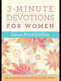 3-Minute Devotions for Women Large Print Edition