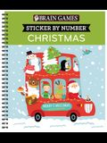 Brain Games - Sticker by Number: Christmas (Kids) [With Sticker(s)]