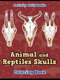 Animal and Reptiles Skulls Coloring Book