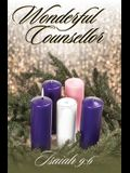 Wonderful Counsellor Bulletin (Pkg 100) Advent