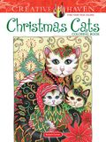Creative Haven Christmas Cats Coloring Book