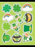 St. Patrick's Day Shape Stickers