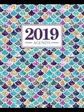 Agenda 2019: 19x23cm: Agenda 2019 settimanale italiano: sirena 4718