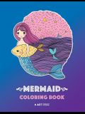 Mermaid Coloring Book: Cute Mermaid Coloring Book For Kids, Tweens & All Ages, Girls, Boys, Mermaids And Ocean Theme, Easy Beginner Friendly