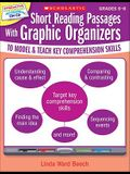 Short Reading Passages with Graphic Organizers, Grades 6-8: To Model & Teach Key Comprehension Skills [With CDROM]