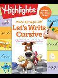 Write-On Wipe-Off Let's Write Cursive