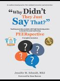 Why Didn't They Just Say That?: Teaching secondary students with high-functioning autism to decode the social world using PEERSPECTIVE