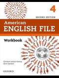 American English File Second Edition: Level 4 Workbook: With Ichecker [With CD (Audio)]