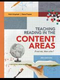 Teaching Reading in the Content Areas: If Not Me, Then Who? (Revised)