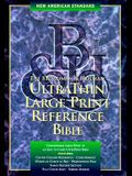 New American Large Print Reference Bible: Genuine Leather