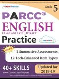Parcc Test Prep: Grade 5 English Language Arts Literacy (Ela) Practice Workbook and Full-Length Online Assessments: Parcc Study Guide
