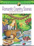 Creative Haven Romantic Country Scenes Coloring Book