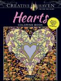 Creative Haven Hearts Coloring Book: Romantic Designs on a Dramatic Black Background