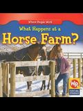 What Happens at a Horse Farm?