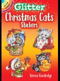 Glitter Christmas Cats Stickers