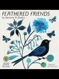 Feathered Friends 2020 Wall Calendar: Watercolor Bird Illustrations by Geninne D Zlatkis