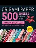 Origami Paper 500 Sheets Cherry Blossoms 6 (15 CM): Tuttle Origami Paper: High-Quality Double-Sided Origami Sheets Printed with 12 Different Patterns