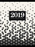 Wochenplaner 2019: 19 X 23 CM: Schwarze Und Wei