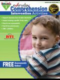 Everyday Comprehension Intervention Activities Grade 1 Book Teacher Resource