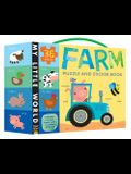 Farm Puzzle and Sticker Book [With Puzzle]