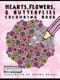 Hearts, Flowers, and Butterflies: Colouring Book