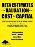 Beta Estimates for Valuation and Cost of Capital, As of the End of 1st Quarter, 2017
