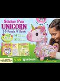 Sticker Fun Unicorn: 3D Puzzle and Book