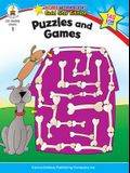 Puzzles and Games, Grade 1: Gold Star Edition
