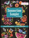 Summertime Sampler: Colorful Wool Applique - Sunny Quilt Blocks