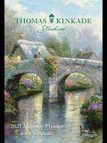 Thomas Kinkade Studios 2021 Monthly Pocket Planner Calendar with Scripture