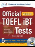 Official TOEFL IBT Tests Volume 1, Third Edition [With DVD ROM]