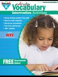 Everyday Vocabulary Intervention Activities for Grade K Teacher Resource