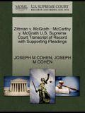 Zittman V. McGrath: McCarthy V. McGrath U.S. Supreme Court Transcript of Record with Supporting Pleadings