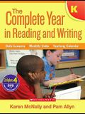 Complete Year in Reading and Writing: Kindergarten [With DVD]