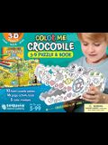 Color Me Crocodile: 3D Puzzle and Book [With Book(s)]