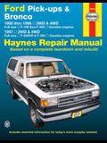 Ford Pick-Ups F-100, F-150 & Bronco (80-96) & F-250 HD & F-350 (97) Haynes Repair Manual: 1980 Thru 1996 2wd & 4WD Full-Size F-100 Thru F-350 Gasoline