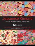 Japanese Kimono Gift Wrapping Papers 12 Sheets: High-Quality 18 X 24 Inch (45 X 61 CM) Wrapping Paper