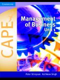 Management of Business for Cape(r) Unit 1