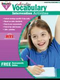 Everyday Vocabulary Intervention Activities for Grade 2 Workbook